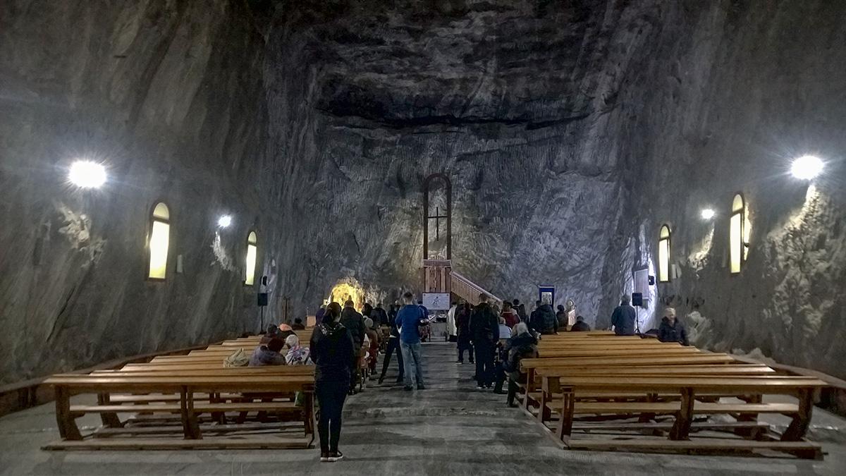 Chapel inside Praid salt mine