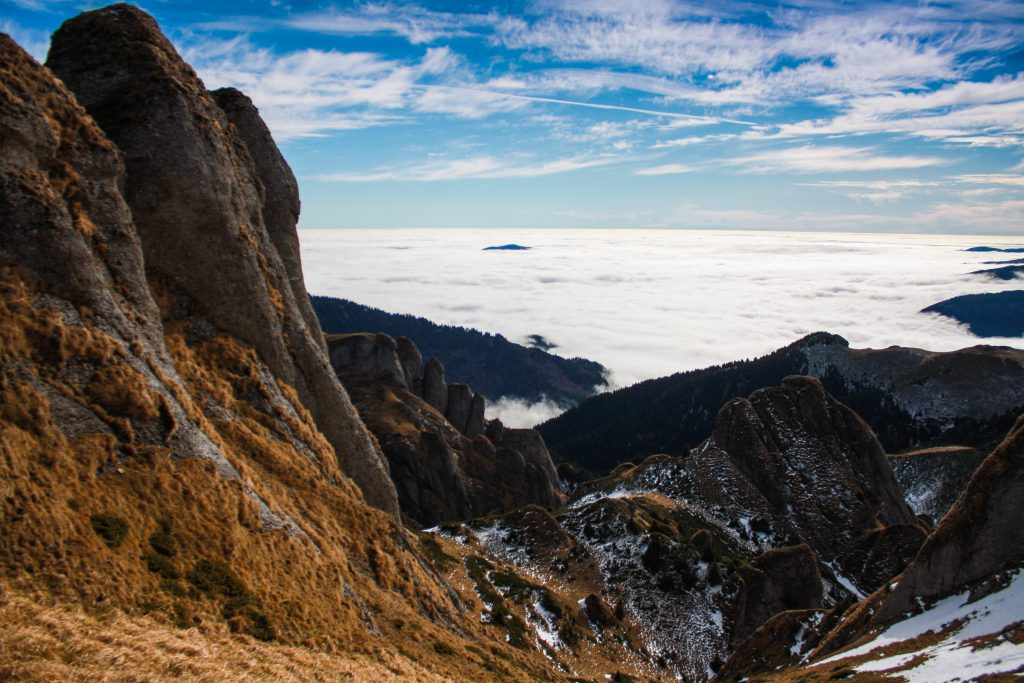 Sea of clouds in Ciucas massif