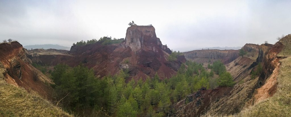 The volcanic canyon in Racos, Brasov