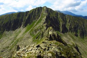 Mountain ridge in Fagaras mountains, Romania