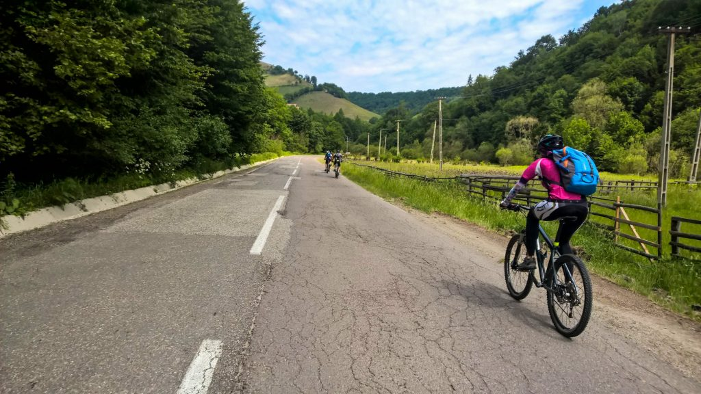 Cycling tour in Transylvania - cycling in Poiana Marului