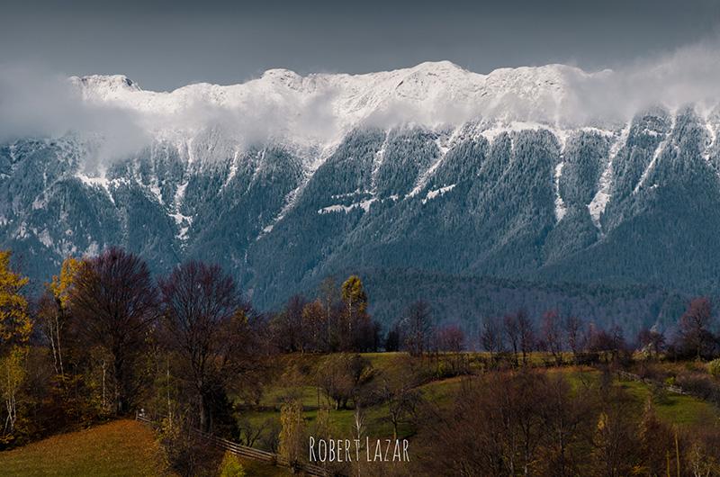 Bucegi mountains seen from Fundata
