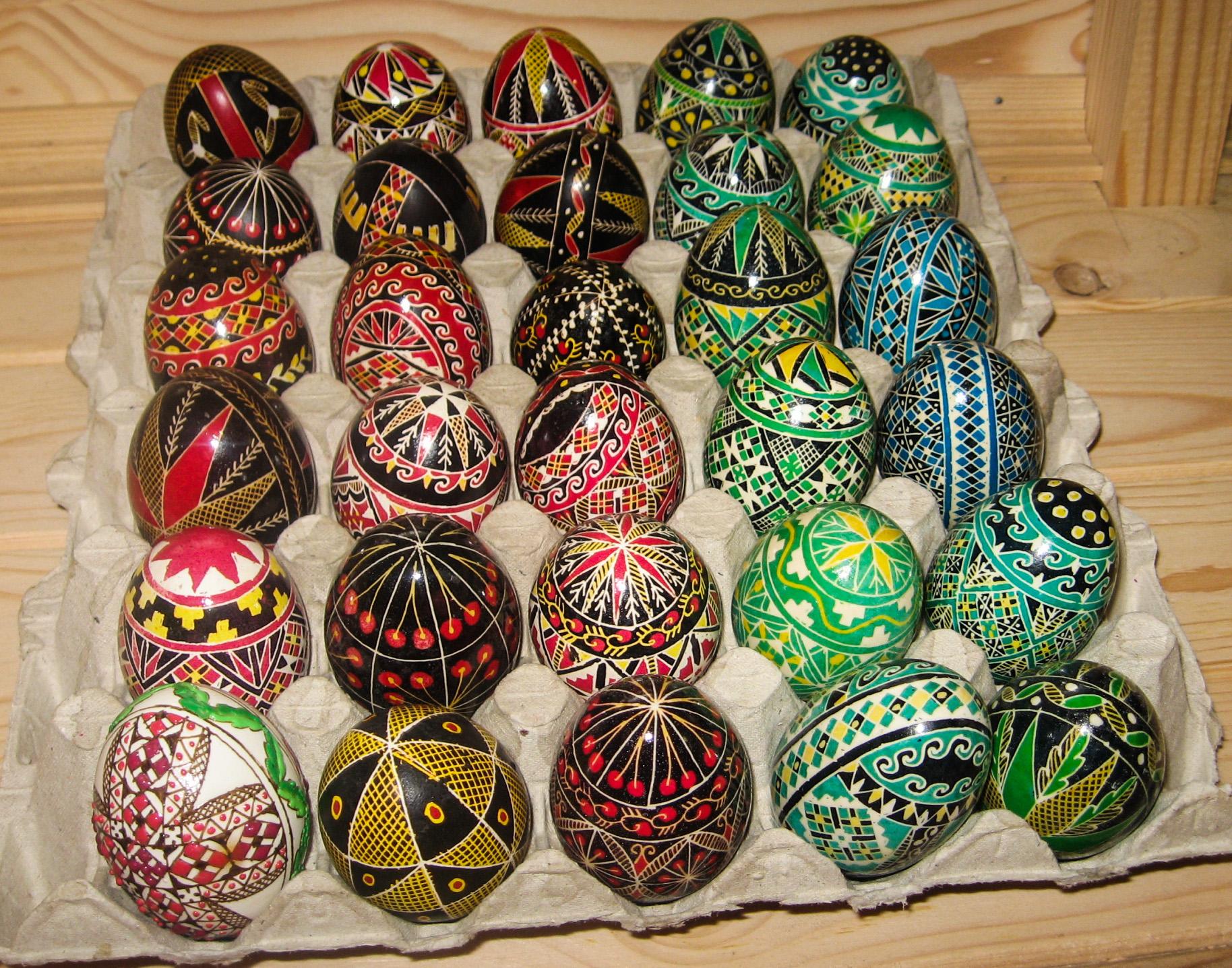 Oeufs peints en Roumanie