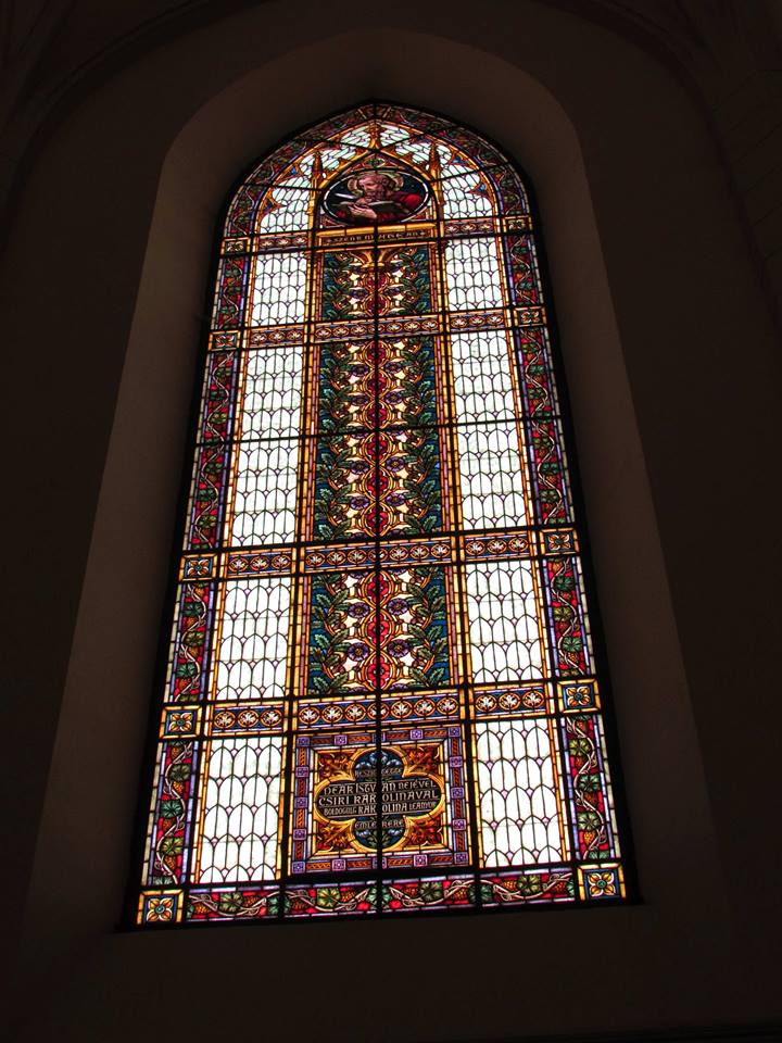 Church in Ditrau - stained glass windows