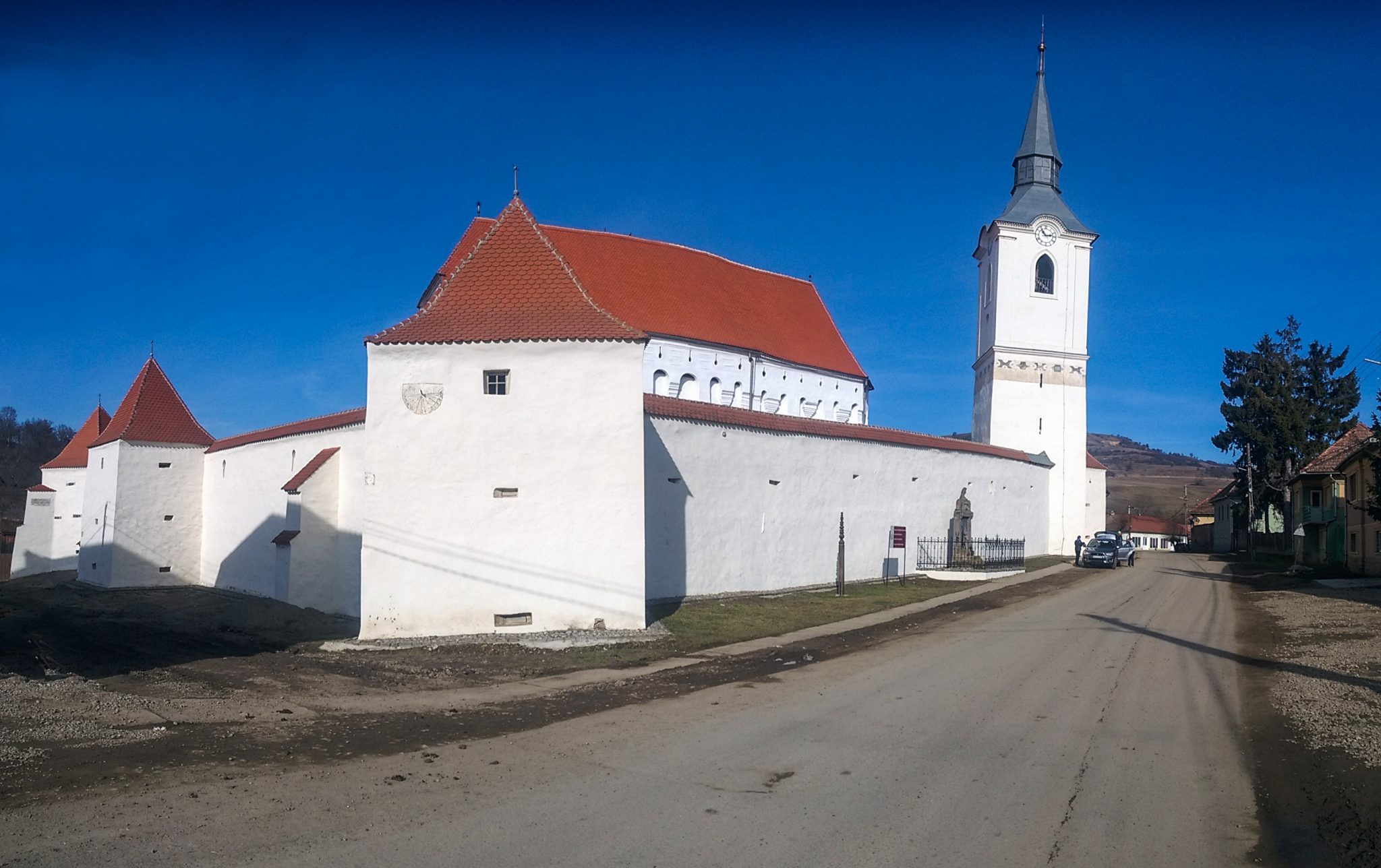 Exterior view of Darjiu fortified church