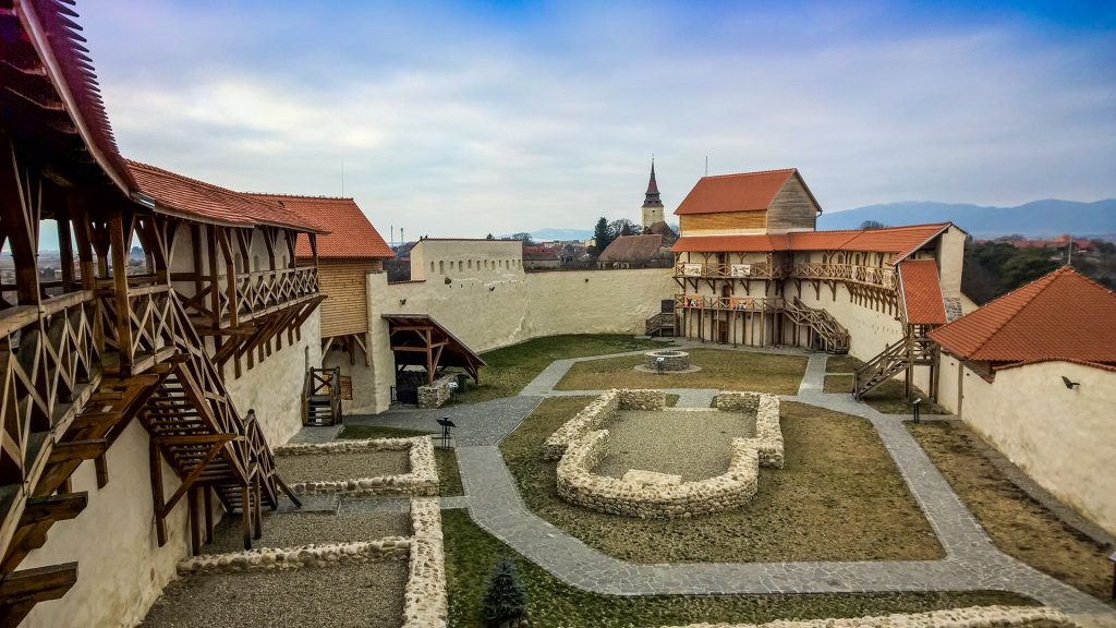 Feldioara citadel inner court