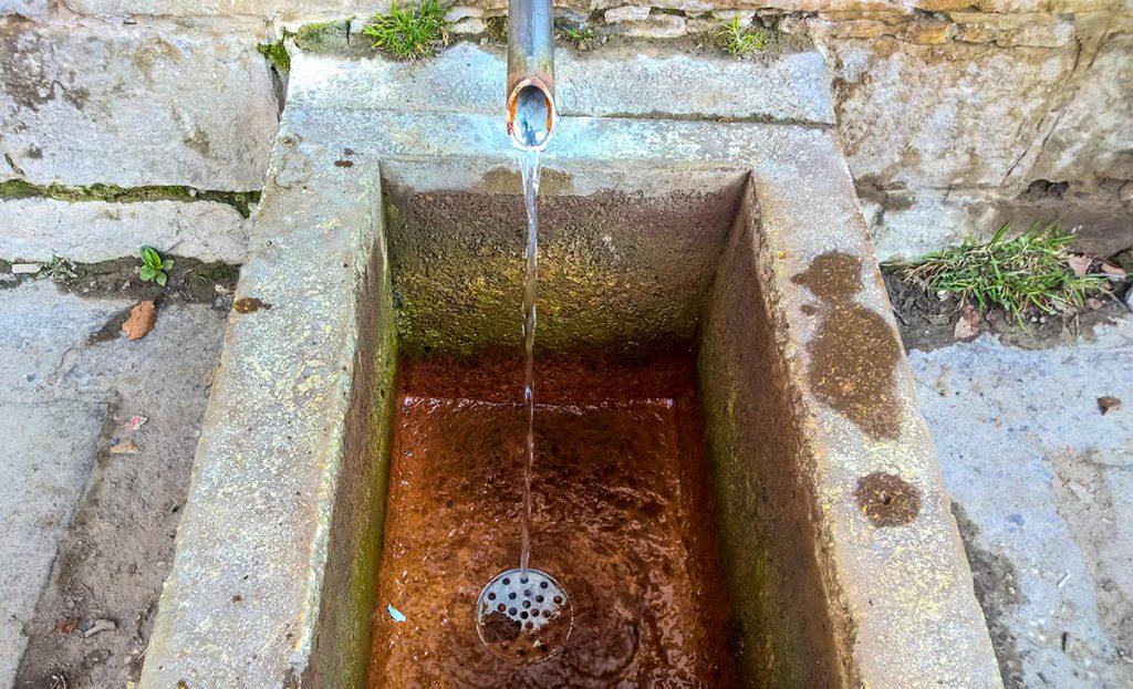 Mineral water spring in Balvanyos