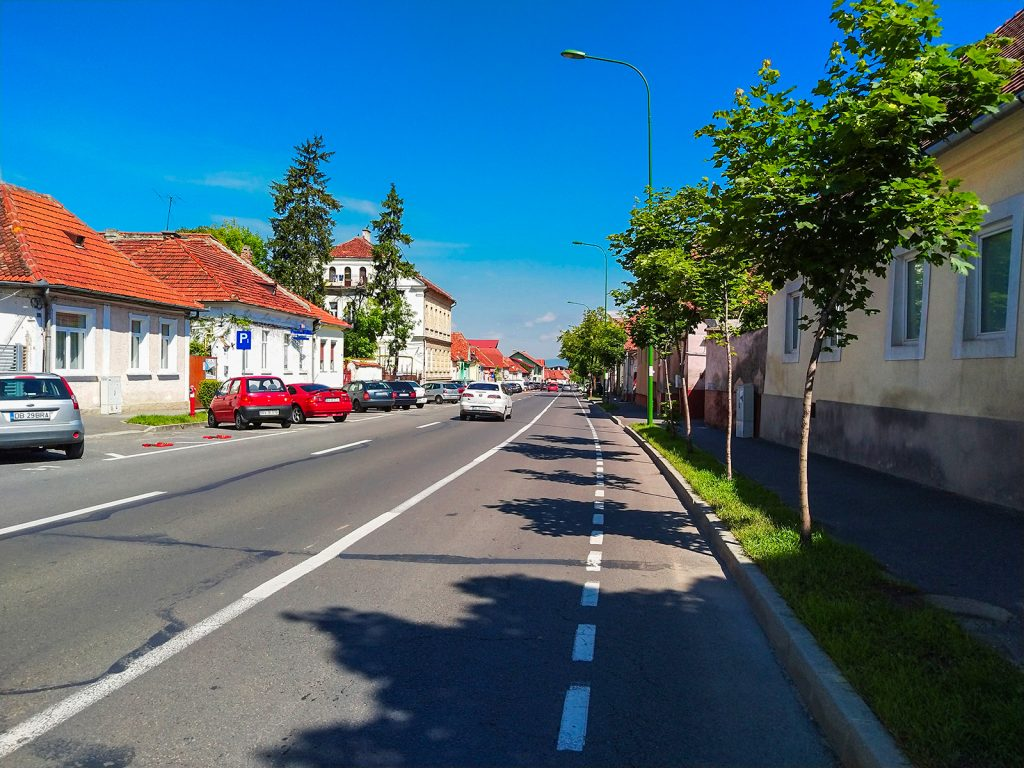 Cycling through Brasov streets