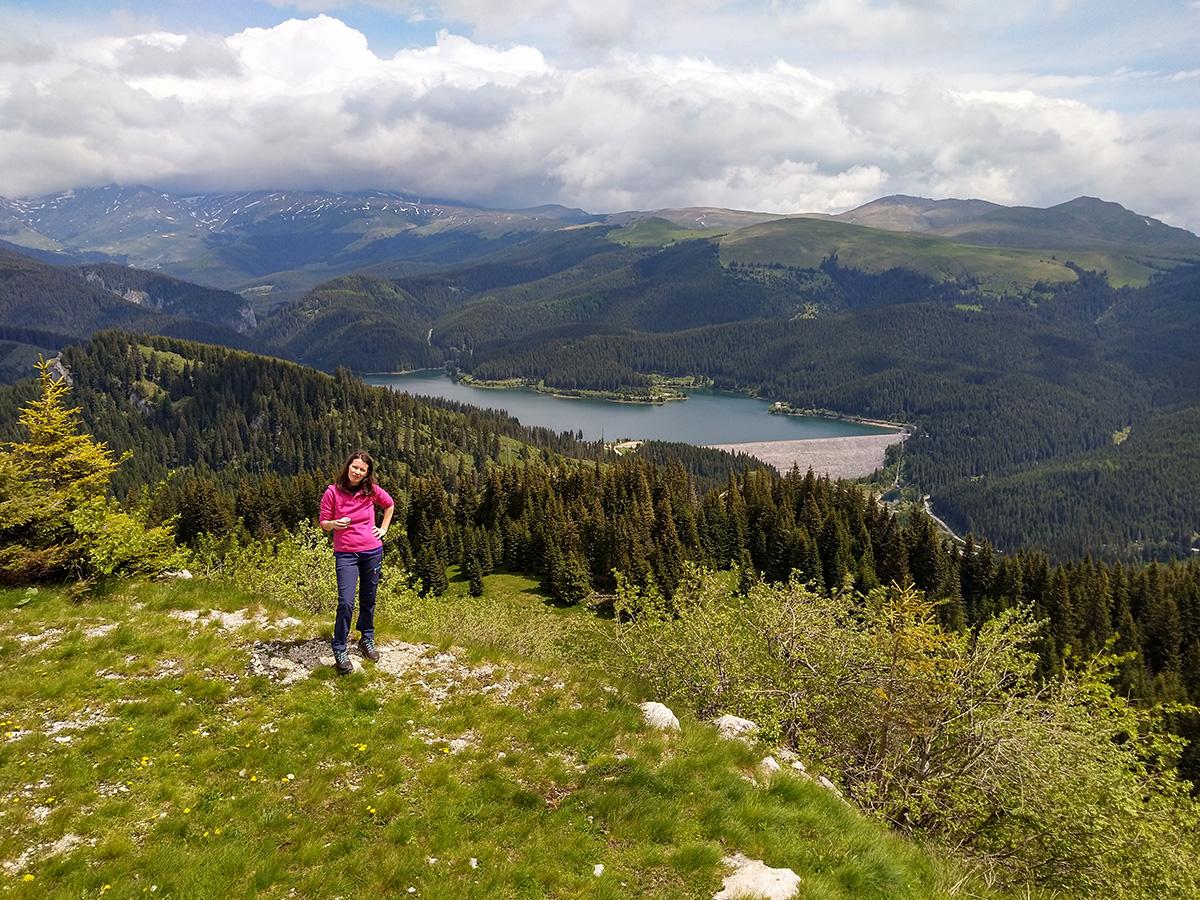 Andreea above Bolboci reservoir lake